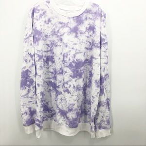 Original Use Oversized Boho Tie Dye Sweatshirt  L